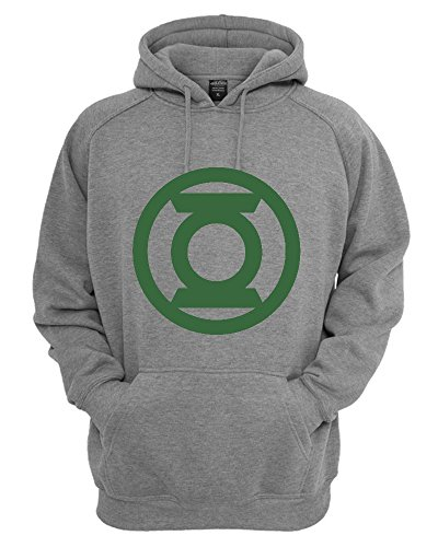 Green Lantern Circled Movie Logo Unisex Felpa con Cappuccio X-Large