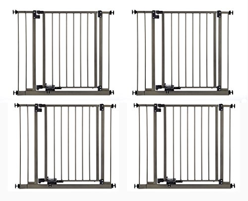 """New North States 4925 Set Of 4 Durable Metal 29"""" Slide-Step & Lock Open Gate"""