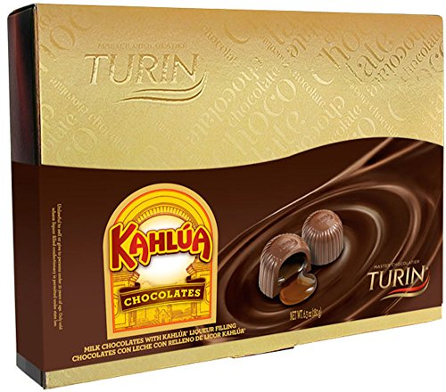 Turin Milk Chocolates Filled With Kahlua Coffee Liquor Gift Box (6.3 Ounces)