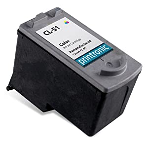 Printronic Remanufactured Ink Cartridge Replacement For Canon CL-51 0618B002 High Capacity Color Ink Cartridge - PIXMA iP6210D iP6220D MP180