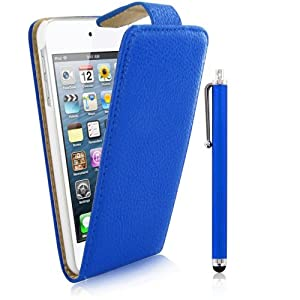 Kolay Flip Case Cover Stand/Screen Protector/Stylus Pen for Apple iPod Touch 5th Generation - Blue