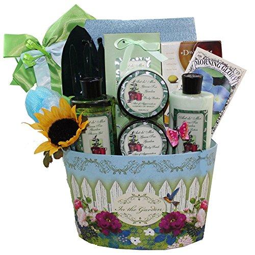 Art of Appreciation Gift Baskets Garden Delights Green Tea Spa Bath and Body Set