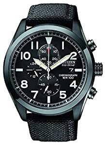 Citizen Men's CA0255-01E Sport Eco-Drive Chronograph Strap Watch