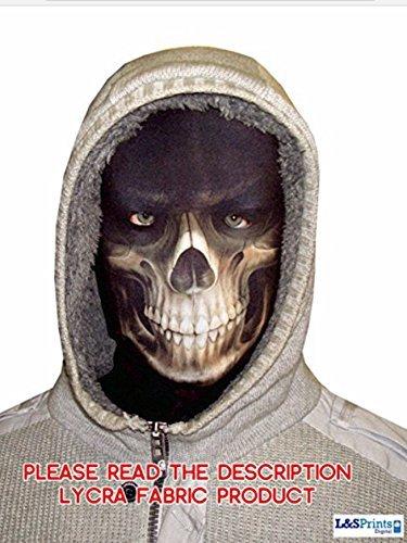 Masque cagoule d'halloween GrimReaper mort crâne en tissu