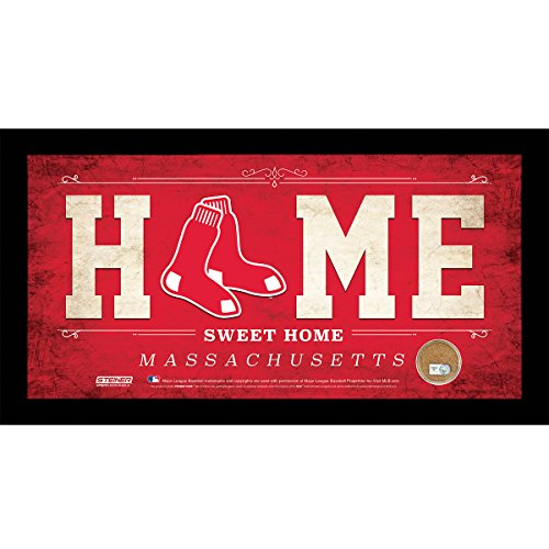 MLB Boston Red Sox Home Sweet Home Sign with Game-Used Dirt from Fenway Park, 6 x 12