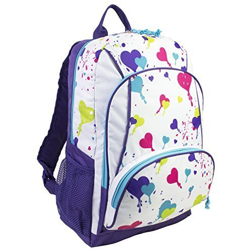 eastsport-39cm-heart-splatter-print-backpack