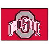 FANMATS NCAA Ohio State University Buckeyes Nylon Face Starter Rug