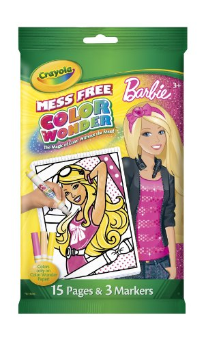Crayola Color Wonder Barbie Mini Coloring Pad and Markers