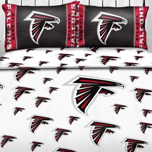 Nfl Atlanta Falcons Logo Full Sheets - 4Pc Football Bedding Full-Double Bed front-501441