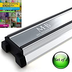 Magnetic Knife Holder and Home Organization Tool Strip Set of 2, 16 Inch Bar, Free Organizer eBook