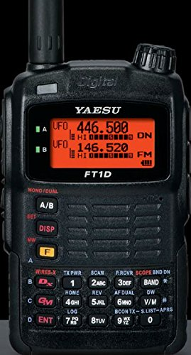 Yaesu Original FT-1DR HD Black 144/440 MHz Dual-Band Digital Transceiver, 12.5kHz C4FM/FDMA, 5 Watts, SMA Connector