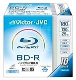 Victor ブルーレイディスク追記型 25GB 2倍速 インクジェットププリンタ対応ワイドホワイト 10枚 BV-R130B10