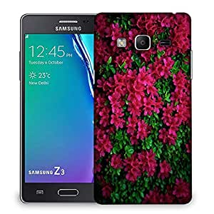 Snoogg Red And Green Leaves Designer Protective Phone Back Case Cover For Samsung Galaxy Tizen T3