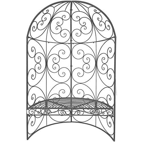 Panca arco mezzaluna di giardino in ferro 185cm