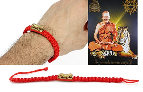 red-rope-bracelet-wristband-amulet-lp-pern-wat-bang-phra-tiger-32-cmtrakut-protection-free-special-g