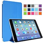 MoKo Apple iPad Air Cover Case - Ultra Slim Lightweight Smart-shell Stand Case for Apple iPad Air / iPad 5 (5th Gen) Tablet, BLUE (With Smart Cover Auto Wake / Sleep)