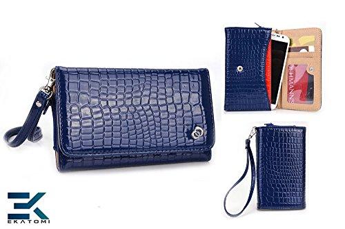 [Diva] Blackberry Q10 Case - Blue   Universal Women'S Wallet Wrist-Let Clutch. Bonus Ekatomi Screen Cleaner