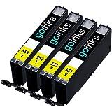 4 Yellow Compatible Canon CLI-551Y Printer Ink Cartridge for Canon Pixma iP7250, iP8750, iX6850, MG5450, MG5550, MG5650, MG6350, MG6450, MG6650, MG7150, MG7550, MX725, MX925