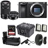 Sony Alpha a6500 24.2MP Wi-Fi Mirrorless Camera 16-50mm & 55-210mm Zoom Lens (Black) + 128GB Video Bundle