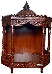 Aarsun Handcrafted Wooden Teak Mandir / Temple for Home