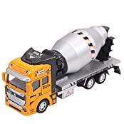 Happy Cherry Scale Diecast Cement Mixer Truck Construction Vehicle Transport Car Carrier Truck Toy Model Cars...