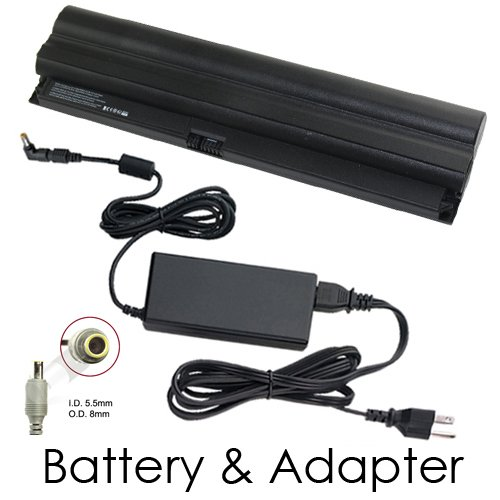 Lenovo Thinkpad X120E 0611A75 Laptop Battery and 65 Watt Adapter - Freebie Powerwarehouse 6 Cell Battery and 65 Watt Adapter Combo