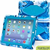 Shockproof Waterproof Kids Proof Protective Survivor Defender Case Cover with Stand for Ipad 4 3 2 Camo Blue