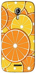 Snoogg Orange fever 2372 Designer Protective Back Case Cover For Micromax A117