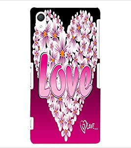 ColourCraft Love Heart Design Back Case Cover for SONY XPERIA Z2