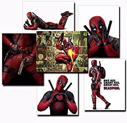 NEW PRODUCT! 6 Pack of Deadpool 8\'\'x10\'\' Movie Prints Featuring One Comic Print