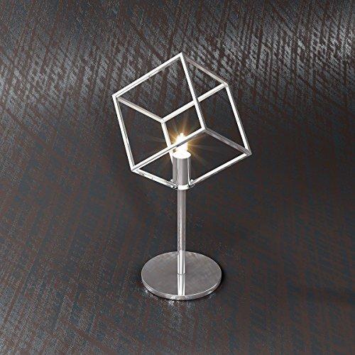 Lampada da tavolo RAM cubo design moderno Lumetto diffusore Minimal Cromo Scrivania, Comodino, Abat Jour