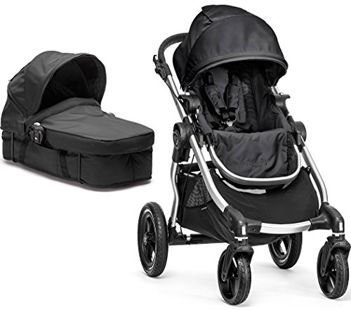 Baby Jogger City Select Stroller w/ Bassinet Kit, Onyx - 2014
