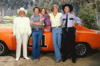 Dukes Of Hazzard Color Cast By General Lee 24X36 Poster