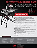 Lackmond WTS2000LN Beast 10-Inch Wet Tile/Stone Saw with Laser, Worklight and Stand