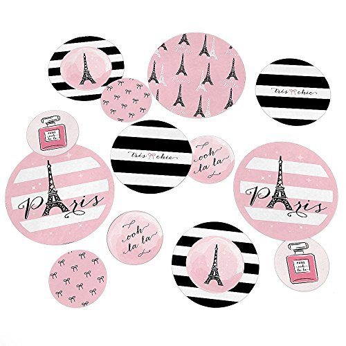 Paris, Ooh La La - Party Table Confetti Set - 27 Count