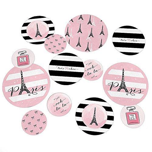 Paris, Ooh La La - Party Table Confetti Set - 27 Count
