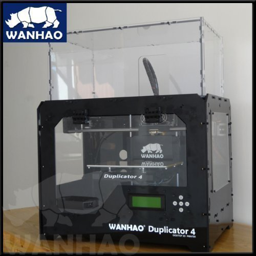 Wanhao Duplicator 4X 3D Printer in Black Case Single Extruder