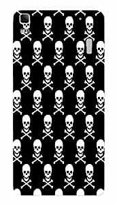 Back Cover for Lenovo K3 Note Abstract Skull