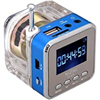 Haoponer Portable Mini Digital Display Screen Speaker USB Flash Drive Micro SD TF Card Music MP3 Player FM Radio... - B010AUWVLK