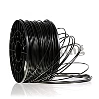3D Printer Filament PLA 1.75mm Black or White Color 1kg (2.2 lbs) Dimensional Accuracy +/- 0.05mm. Formulated in laboratories for 3D printing and tested to ensure reliability. by 3D4USE