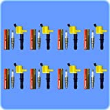 Set of 8 Motorcraft Spark Plugs SP-515 PZH14F + 8 ADP Ignition Coils For 2005 2006 2007 2008 Ford F150 F-150 GDG511 GD511 FD508