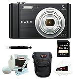 Sony Cyber-shot DSC-W800 DSCW800 B DSCW800B Point and Shoot Digital Still Camera (Black) + Focus Camera Case + Sony 16GB Memory Card + Accessory Kit