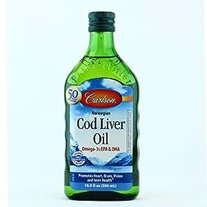Carlson norwegian cod liver oil regular flavor for Carlson fish oil amazon