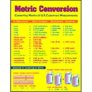 metrics chart metric system chart for kids metric system placemat