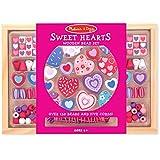 Melissa & Doug - Corazones dulces, juego de cuentas de madera (14175)