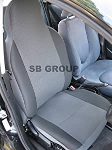 volvo v40 v50 v60 v70 car seat covers anthracite grey 2 fronts only car. Black Bedroom Furniture Sets. Home Design Ideas
