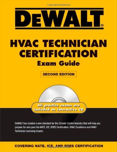 DEWALT HVAC Technician Certification Exam Guide (DEWALT Series) (Hvac Nate Test compare prices)