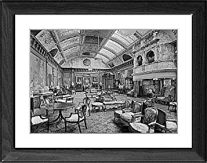 Framed Artwork of Edwardian music room, Thornton Manor BL17551