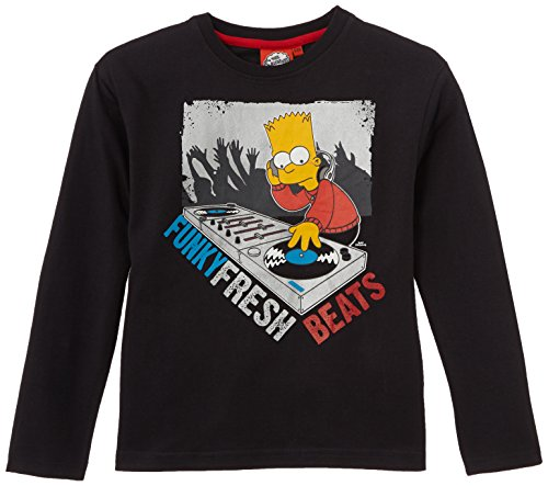 simpsons-t-shirt-garcon-gris-anthracite-fr-6-ans-taille-fabricant-6-ans