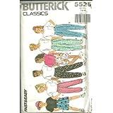 Girls/Boys Top, Pants & Shorts With Wrap-Waist Velcro Closure (Butterick Classics Sewing Pattern 5525, Size: 7,8,10) ~ Butterick Classics